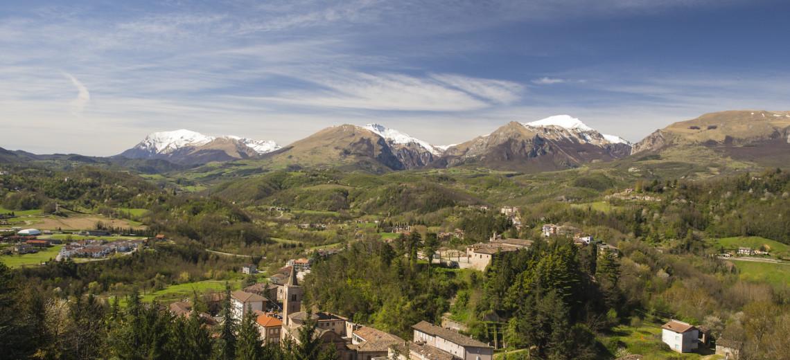sibillini mountains from hotel paradiso - amandola
